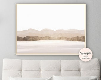 Landscape Painting, Modern Wall Art, Minimal Painting, Abstract Wall Art, Living Room Decor, Large Wall Art, Printable Art