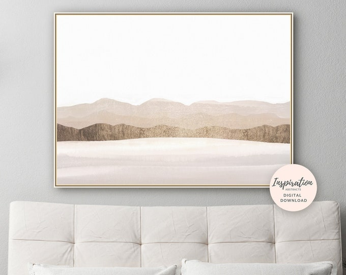 Landscape Painting, Modern Wall Art, Minimal Painting, Abstract Wall Art, Living Room Decor, Large Wall Art, Printable Art