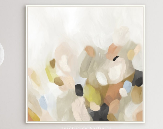 Large Abstract Oil Painting, Printable Art, Neutral Tone Print, Minimalist Art, Abstract Art, Contemporary Art
