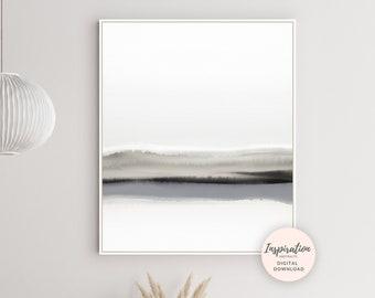 Landscape Print, Modern Wall Art, Living Room Decor, Neutral Art Print, Scandinavian Art, Printable Wall Art, Minimal Painting