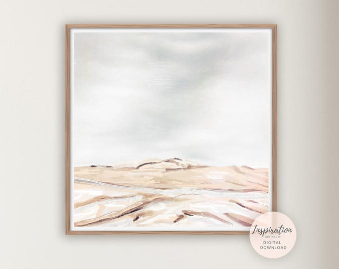 Abstract Landscape Painting, Minimal Painting, Printable Art, Zen Wall Art, Living Room Decor, Large Wall Art, Abstract Art, Modern Wall Art