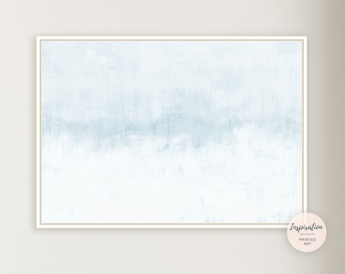 Pale Blue Wall Art, Minimal Canvas Art, Zen Wall Art, Large Canvas Print, Minimalist Art, Lake House Decor, Abstract Art, Coastal Decor