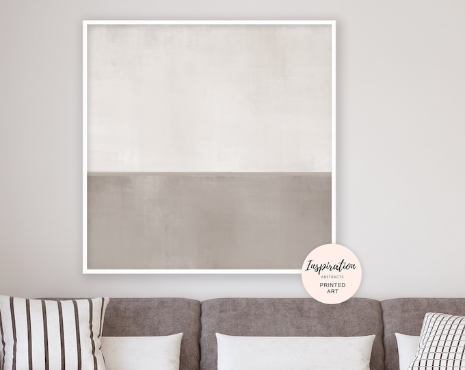 Taupe Abstract Painting, Minimal Wall Art, 40x40 Art Print, Neutral Abstract Art, Oversized Wall Art, Extra Large Wall Art