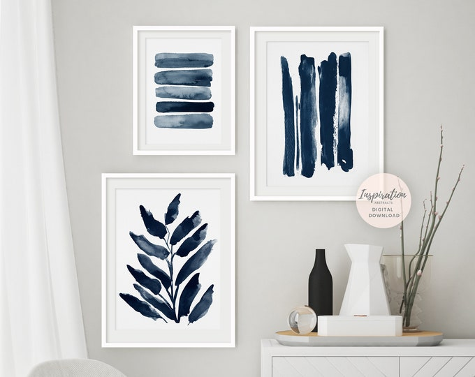 Minimal Gallery Wall Set, 3 Piece Wall Art, Printable Art, Minimalist Print Set, Scandinavian Art, Large Wall Art, 24x36 Art Prints