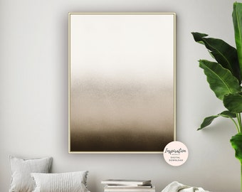 Minimal Art Print, Beige Brown Art, Ombre Wall Art, Neutral Wall Art, Scandi Wall Art, Minimal Wall Art, Printable Art, Living Room Art