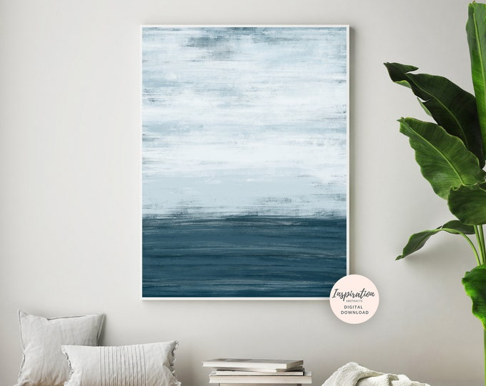 Minimal Wall Art, Abstract Landscape Painting, Zen Wall Art, Printable Art, Modern Wall Art, Living Room Art, Acrylic Painting