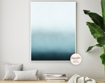 Large Minimalist Art, Blue Painting, Abstract Wall Art, Zen Wall Art, Beach House Art, Printable Art, Living Room Art, Calming Wall Art