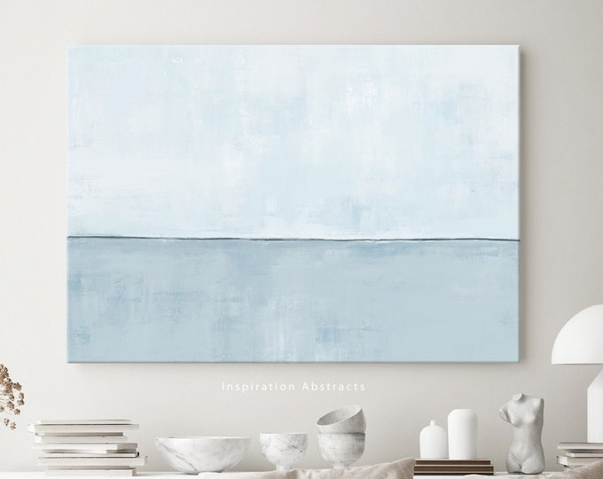 Minimal Blue Canvas Print, Large Abstract Painting, Canvas Art, Coastal Wall Art, Modern Art, Abstract Art, Rothko Inspired, Zen Wall Art