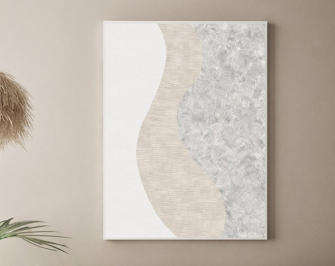 Large Minimal Abstract Art, Minimalist Print, Printable Art, Zen Wall Art, Modern Art Print, 24x36 Art Print, Mixed Media Art, Poster Print