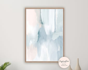 Calming Abstract Art, Printable Wall Art, Serene Art Print, Printable Wall Art, Nursery Decor, Acrylic Art, Living Room Art