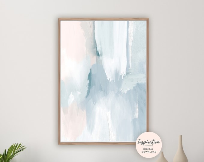 Calming Abstract Art, Printable Wall Art, Serene Art Print, Printable Wall Art, Nursery Decor, Acrylic Art, Living Room Art