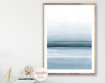 Calming Watercolour Art, Minimal Art, Mindful Art, Oversized Wall Art, Minimal Wall Art, Beach House Decor, Printable Wall Art, Hygge Art