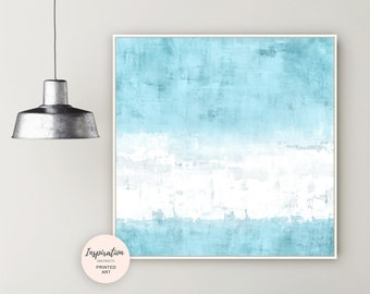 Minimal Abstract Art, Pale Blue Wall Art, Oil and Acrylic Art, Beach House Art, Mixed Media Art, Abstract Painting, Extra Large Wall Art