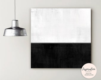 Monochrome Wall Art, Large Abstract Print, Minimal Abstract Art, Oversized Wall Art,  Acrylic Painting, Living Room Art