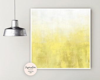 Yellow Painting, Large Abstract Print, Minimalist Painting, Oversized Wall Art, Horizontal Art Print, Extra Large Wall Art, Living Room Art