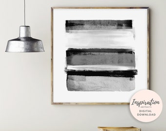 Black and White Wall Art, Large Abstract Print, Monochrome Wall Art, Large Square Print, Minimalist Print