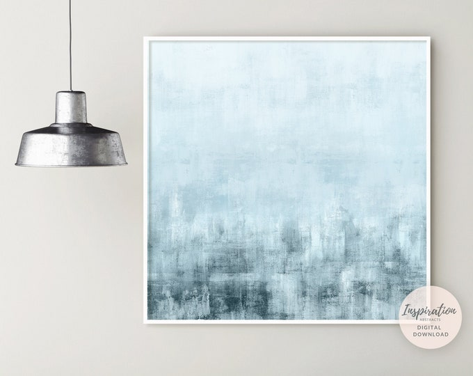 Large Abstract Painting, 30x30 Wall Art, Blue Wall Art, Pale Blue Art, Printable Art, Acrylic Painting, Rothko Inspired, 30x30 Wall Art