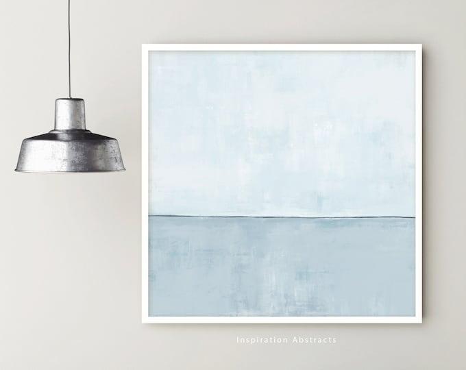 Large Abstract Painting, Modern Art, Coastal Wall Art, Minimal Painting, Pale Blue Wall Art, Contemporary Art, Rothko inspired, Large Art