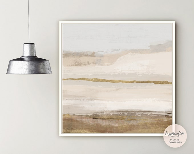 Minimal Landscape Painting, Printable Art, Abstract Wall Art, Living Room Decor, Large Wall Art, Abstract Landscape, Modern Wall Art