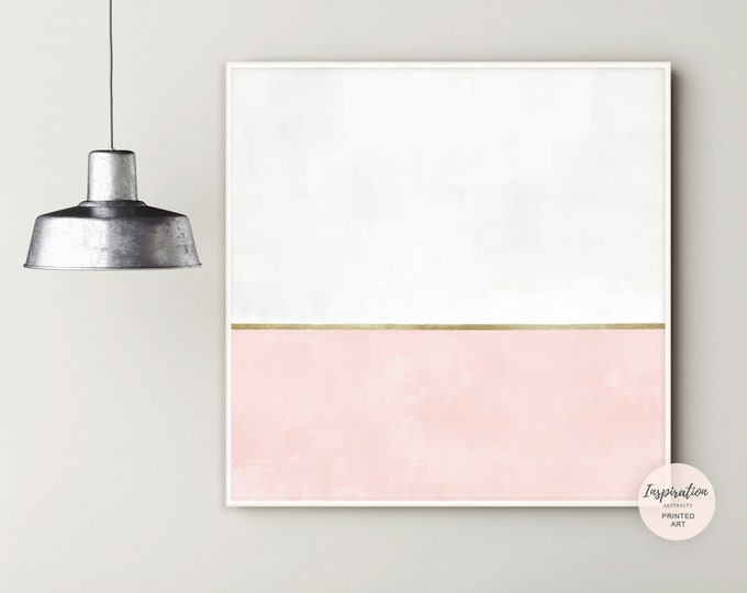 Pink White Gold Abstract Art, Large Minimal Wall Art, Canvas Print, Nursery Decor, Oversized Wall Art, Nursery Wall Art, Gift For Her