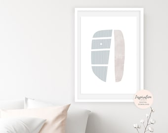 Calming Minimalist Art, Serene Wall Art, Oversized Wall Art, Scandinavian Art Print, Beach House Art,Large Wall Art, Abstract Art
