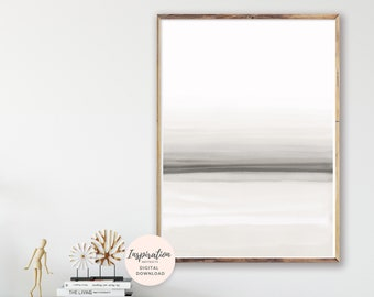 Minimal Watercolour Print, Large Abstract Print, Vertical Wall Art, Apartment Decor, Calming Wall Art, Modern Wall Art,  Living Room Art