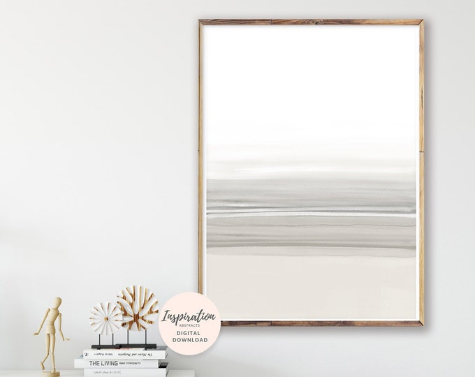 Soothing Watercolour Print, Neutral Wall Art, Mindfulness Gift, Calming Wall Art, Minimal Wall Art, Printable Wall Art, Hygge Art