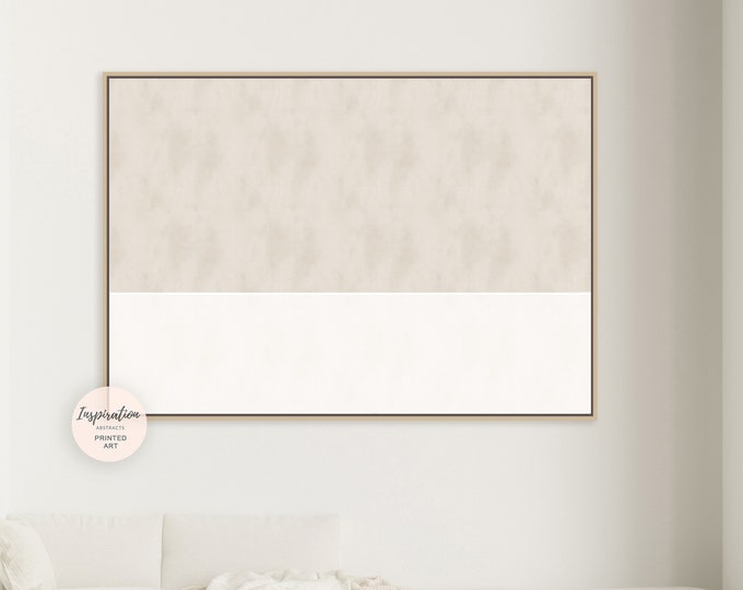 Extra Large Canvas Art, Beige And Cream Wall Art, Minimalist Print, Large Abstract Painting, Modern Art, Abstract Art, Rothko Inspired