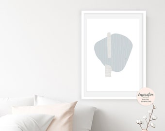 Minimal Collage Art, Simple Wall Art, Mid Century Modern, 24x36 Art Print, Large Wall Art, Abstract Art, Calming Wall Art, Neutral Decor