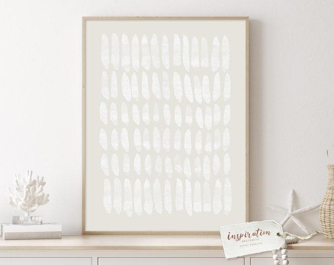 Minimal Beige and White Abstract Art, Zen Wall Art, Digital Prints, Large Minimal Art, Minimalist Wall Art, Boho Decor