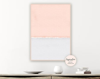 Minimalist Print, Blush Pink and Grey Art, Printable Poster, Rothko Style,Living Room Decor, Abstract Nursery Art, Modern Wall Art