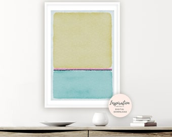 Blue Abstract Painting, Printable Poster, Rothko Inspired, Beach House Decor, Printable Art, Zen Wall Art, Modern Wall Art, Bedroom Decor