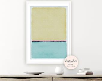 Blue Abstract Painting, Printable Poster, Rothko Inspired, Beach House Decor, Printable Art, Zen Wall Art, Modern Wall Art, Bedroom Decor