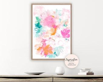 Floral Art Print, Printable Art, Large Flower Print, Botanical Print, Boho Art, Best Friend Gift, Floral Print, Abstract Nursery Decor