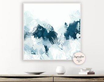 Botanical Painting, Oversized Wall Art, Mixed Media Art, Beach House Art, 30x30 Art Print, Abstract Painting, Floral Painting