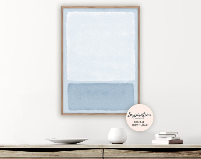 Minimal Abstract Painting, Zen Wall Art, Rothko Inspired, Printable Art, Beach House Art, Acrylic Painting, Modern Wall Art, Bedroom Decor