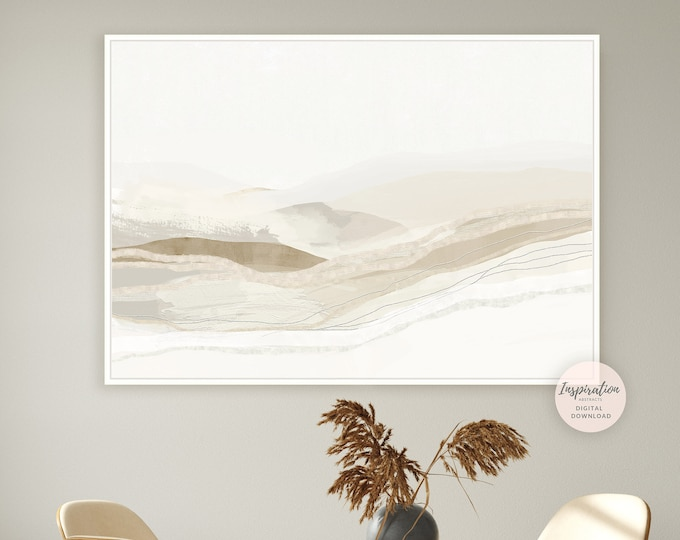 Large Minimalist Painting, Printable Art, Landscape Painting, Abstract Painting, Zen Wall Art, Abstract Art, Modern Wall Art, Minimal Art