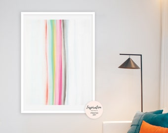 Abstract Watercolour Painting, Rainbow Print, Modern Wall Art, Colorful Wall Art, Abstract Wall Art, Abstract Nursery Art, Calming Wall Art