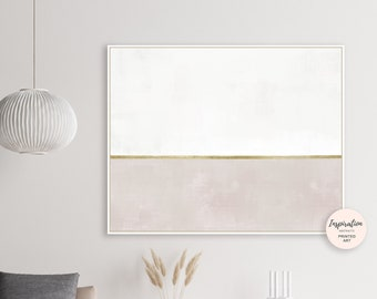 Minimal Abstract Art, White and Beige Abstract Painting, Minimalist Print, Oversized Wall Art, 60x40, Rothko Inspired, Acrylic Painting