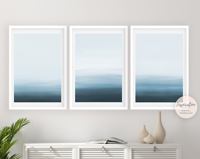 Coastal Wall Art Set, Set of 3 Prints, Gallery Wall Set, Calming Wall Art, Minimalist Art, 24x36 Art Prints, Printable Art, Wall Art Set