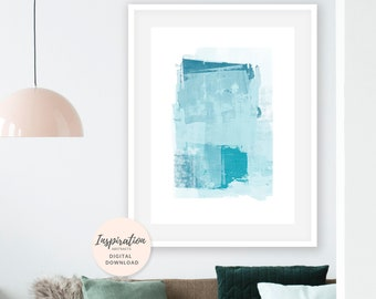 Large Abstract Art, Teal Wall Art, Beach House Art, Oversized Wall Art, Hygge Wall Art, Scandi Art, Mixed Media Art, Living Room Art