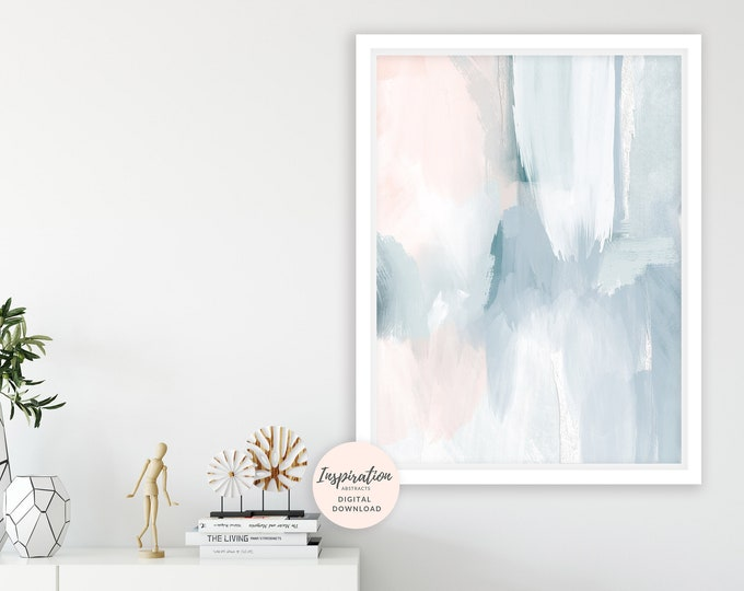 Featured listing image: Calming Abstract Art, Printable Wall Art, Serene Art Print, Printable Wall Art, Nursery Decor, Acrylic Art, Living Room Art