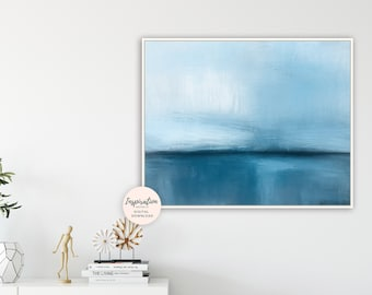 Printable Abstract Art, Landscape Painting, Minimalist Painting, Oil Painting, Horizontal Wall Art, Printable Wall Art, Contemporary Art