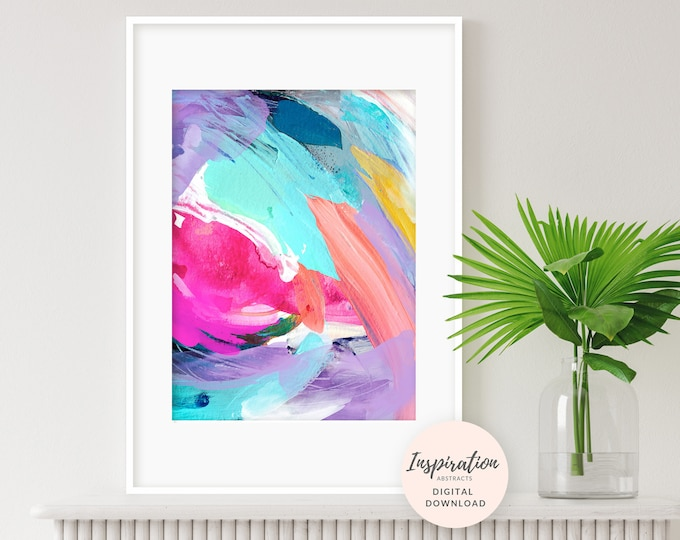 Colourful Abstract Painting, Printable Art, Lilac Wall Art, Nursery Art, Abstract Art, 18x24 Art Prints, Nursery Decor, Modern Art,