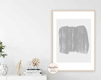 Grey Minimalist Art, Modern Wall Art, Living room Decor, Oversized Wall Art, Extra Large Wall Art, Digital Download, Abstract Art
