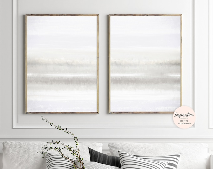 Neutral Abstract Art, Set Of 2 Prints, Watercolor Prints, Calming Art Prints, Minimalist Print, Vertical Wall Art, Inspiration Abstracts