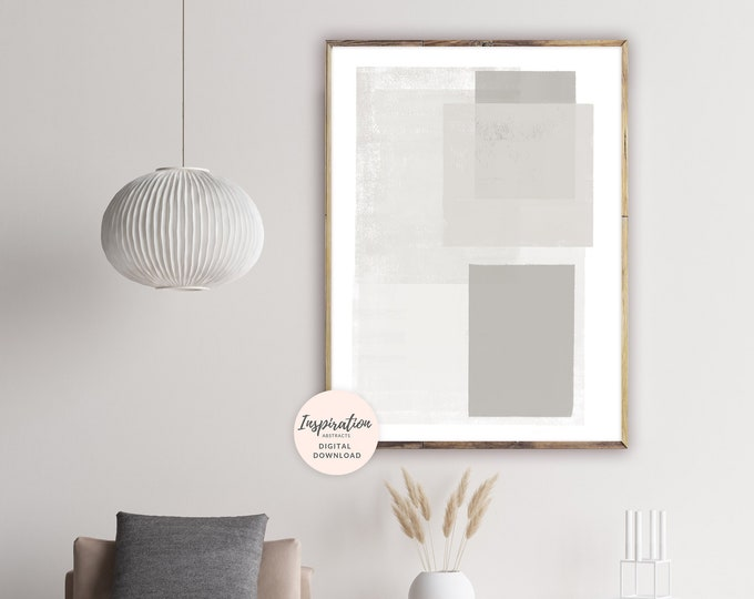Minimal Modern Art, Calming Wall Art, Minimalist Art, 24x36 Art Print, Large Wall Art, Digital Download