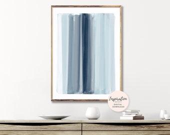 Minimal Art Print, Brushstrokes Painting, Scandinavian Print,  Oversized Wall Art, Modern Art Print, Hygge Art, Mindful Art