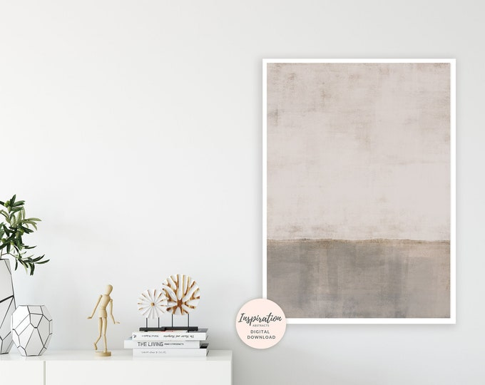 Large Minimal Painting,  Neutral Wall Art, Printable Art, Modern Wall Art, Modern Painting, Rothko, Rothko Inspired
