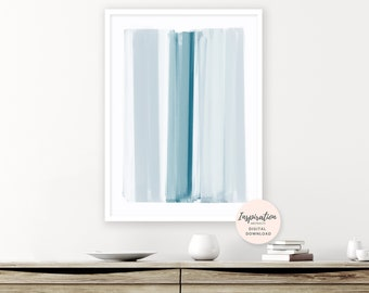 Minimal Abstract Art, Brushstrokes Art, Mindful Art, Oversized Wall Art, Scandi Wall Art, Living Room Art, Modern Art Print